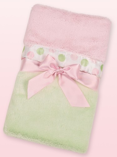 Posh Dots Crib Blanket Green