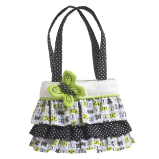 Fresh Lime Ruffle Tote - Click Image to Close